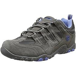 Hi-Tec Quadra Classic - Zapatillas de Senderismo para Mujer, Gris (Grey/Charcoal/Cornflower 051), 40 EU