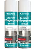 2 Set HOTREGA Edelstahl-Pflegespray Brillant 300 ml