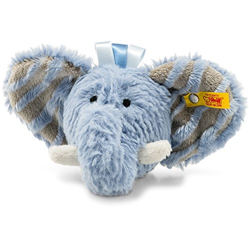 Steiff 240522 Soft Cuddly Friends Earz Elefant Rassel Plüsch blau 12 CM