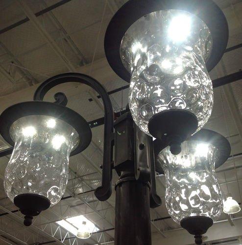 Innova Lighting 3 Light Outdoor Led Lamp Post Lantern Yard