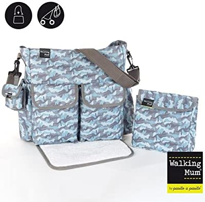 WALKING MUM - Bolsa Canastilla Walking Mum Camouflage Boy azul