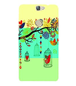 PrintVisa Corporate Print & Pattern Bird Cage 3D Hard Polycarbonate Designer Back Case Cover for COOLPAD MAX