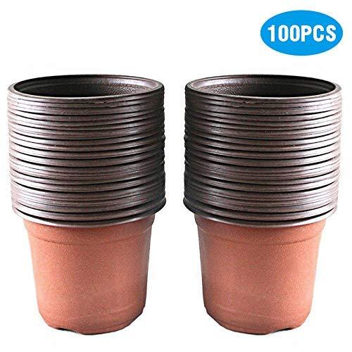 g2plus 50 vasi di plastica per piante, fiori e per la semina, di 15 cm di diametro, perfetti per il giardinaggio