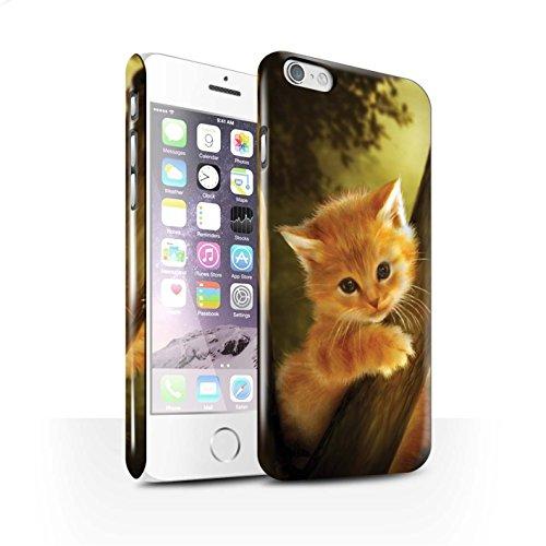 Officiel Elena Dudina Coque / Clipser Brillant Etui pour Apple iPhone 6S / Pack 16pcs Design / Les Animaux Collection Le Brave/Chaton