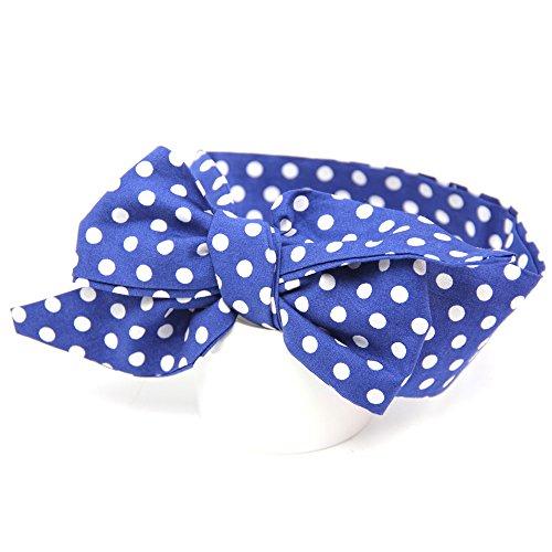 Little Sporter Haarband Headband Recht Dot Bogenband Häschen Ohr Mutter und Kinder Stirnband Kit Schleife Bowknot DIY Draht Bogen Kopfband (Marineblau) (Kit Kopfband)