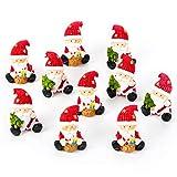 10 kleine MINI Weihnachtsmann rot weiß grün NIKOLAUS SANTA CLAUS 3,5 cm Miniatur Figur give-away Kunden-Geschenk Werbeartikel Weihnachten Weihnacht-Deko Geschenk