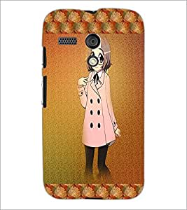 PrintDhaba Studious Girl D-4585 Back Case Cover for MOTOROLA MOTO G (Multi-Coloured)