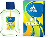 Adidas Get Ready Eau de Toilette Perfume For Men, 100 ml