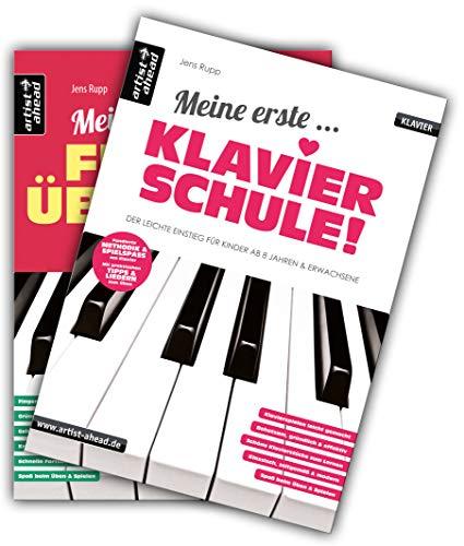 Meine erste Klavierschule & Meine ersten Fingerübungen im Set! Lehrbuch für Piano. Klavierstücke. Spielbuch. Klaviernoten.