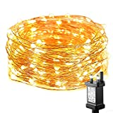 LE Christmas Decorations Fairy Lights 10m, Plug in 100 LED Warm White Christmas Tree Lights, IP65 Waterproof Copper Wire, String Lights Mains Powered for Outdoor Indoor, Bedroom and More