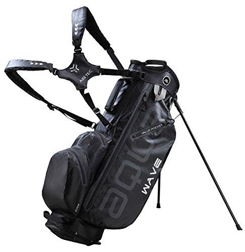 BIG MAX AQUA WAVE Golf Standbag - Ultraleicht - 100% Wasserdicht (Black)