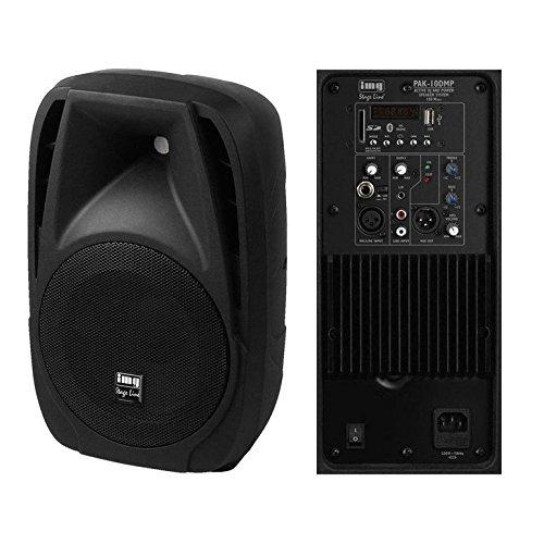 MONACOR - Lautsprecher verstärkt 10 '' mit MP3 und Bluetooth Monacor PAK-10DMP (Mp3-pak)
