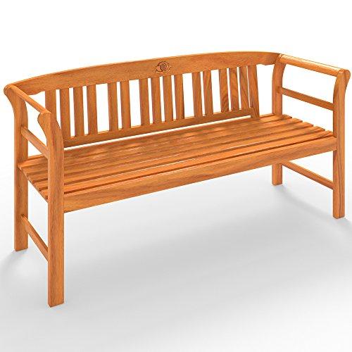 Gartenbank Rose Bank Holzbank Sitzbank Parkbank 150cm aus Eukalyptus – für 3 Personen - 6