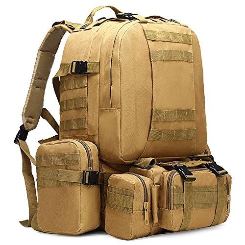 Imagen de impermeable grande militar army patrol molle assault pack táctica combat   bolsa para senderismo camping, 60l, canela alternativa
