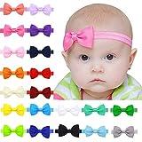"Baby Girls Headbands 20Pcs Elastic Headbands with 3"" Hair Bow (Hair Band)"