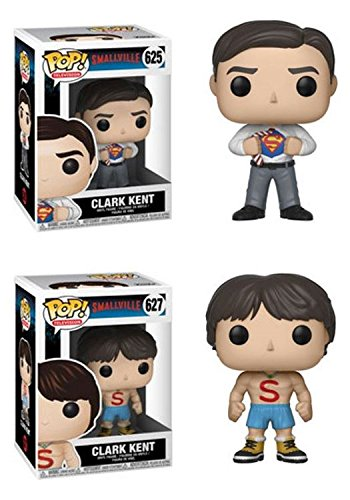 FunkoPOP Smallville Clark Kent Clark Kent Shirtless Stylized TV Vinyl Figure Bundle Set NEW