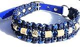 Viva Nature EM-KeramikHandgemachtes Zecken-schutzhalsband/verstellbar 35-42 cm \ Paracord / (35-45 cm, Blau 2)