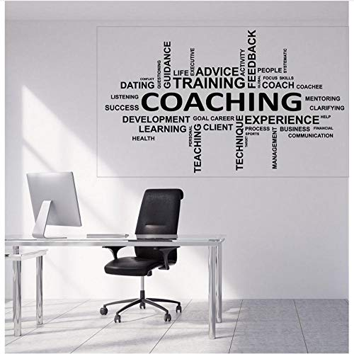 Kreative Wand Vinyl Aufkleber Word Cloud Coaching Lebensberatung Training Office Wall Decor