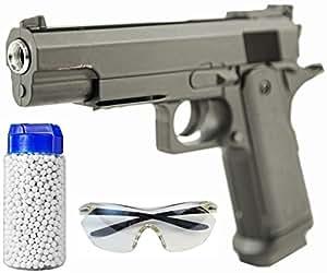 Les full metal Airsoft pistolet mod. set 826 + 500 billes + lunettes de protection