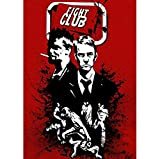 DPFRY Quadri su Tela Fight Club Classic Vintage Movie Art Poster Home Decor 40Cmx60Cm Senza Cornice