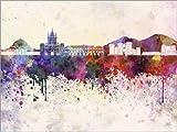 Posterlounge Forex-Platte 130 x 100 cm: Neapel-Skyline von Editors Choice