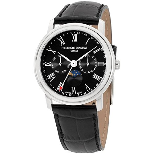 Frederique Constant Men's Classic 40mm Black Swiss Quartz Watch FC-270BR4P6