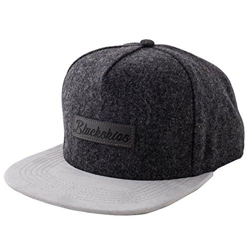 Blackskies Exodus Snapback Cap Grau Wildleder Schirm Flanell Unisex Premium Baseball Mütze Kappe Wolle