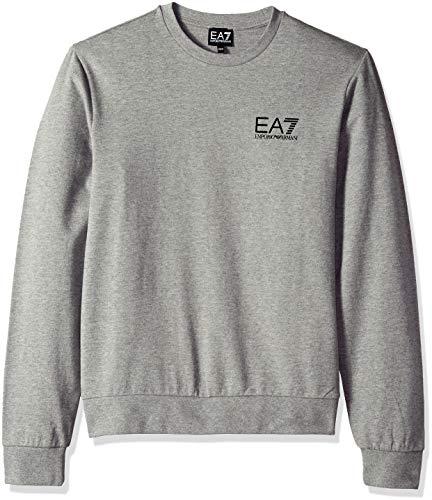 Emporio Armani Herren Train Core ID French Terry Sweatshirt Pullover, Grau (Medium Grey), meliert, Klein Terry Jumper