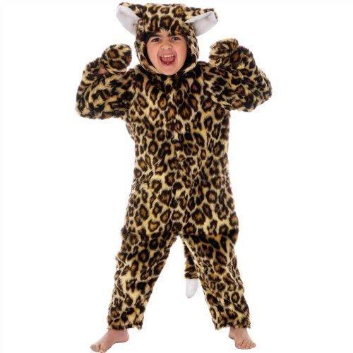 er Pelzig Bengalkatze Zoo Tier Einteiler Halloween Weihnachtskostüm Outfit - Braun, Braun, 4-6 Jahre (110-116) (Zoo Tier Halloween-kostüme)
