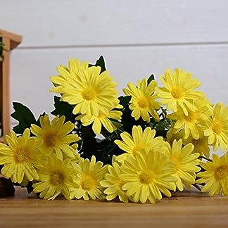 Flor de margarita artificial de seda para bricolaje, boda, fiesta, decoración del hogar