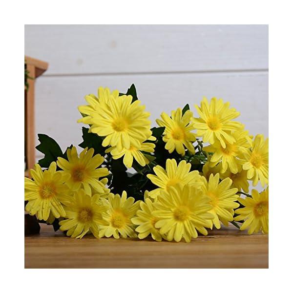 Flores artificiales de seda para decoración de bodas, fiestas, decoración del hogar (azul)