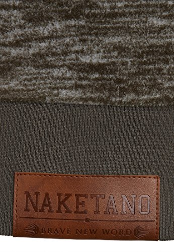 Naketano Male Zipped Jacket Schnitzelpopizel III Dark Olive Melange