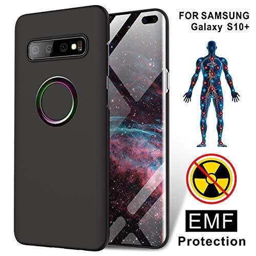 TAGCMC Schutzhülle für Samsung Galaxy S10+, Strahlungsschutz, 99% EMR/EMF-Schutz und Negative Ionen-Energie, ultradünn, Hartschale, nur für Samsung Galaxy S10+ 6,4 Zoll (6,4 Zoll), Mattschwarz