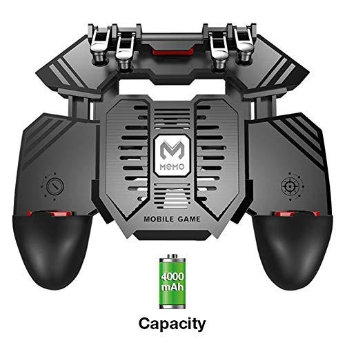 ReauBest Für MEMO Neue PUBG Helper AK77 Game Controller Handy Kühler Wassergekühlter Lüfter Sechs Finger PUGB-Griff Energienbank