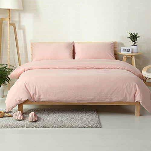 Im japanischen Stil Farbe Bettwäsche Set 100% gewaschener Baumwolle/Europa Königin König Größe Bettbezug setzt (Japanische Bettwäsche-sets Königin)