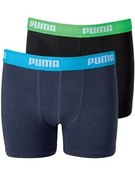 Puma Basic Boxer 2P, Calzoncillos para Niños Pack de 2