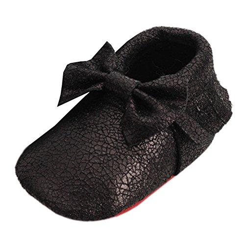 Leap Frog  Mocassins Boots,  Baby Mädchen Kurzschaft Mokassin Stiefel Schwarz