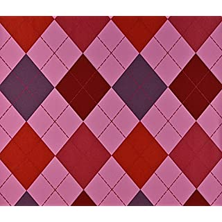 Dutch Wallcoverings 7311-6 Wallpaper Diamonds Pink