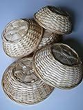 5er Set Bambuskorb rund natur Gr.I ( ca. 15 cm x ca. 5 cm )