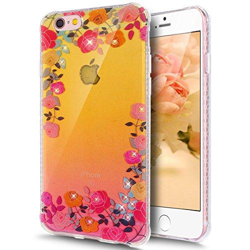 Coque iPhone 6 Plus, Coque iPhone 6S Plus, Étui iPhone 6S Plus, iPhone 6 Plus/iPhone 6S Plus Case, ikasus® iPhone 6 Plus/iPhone 6S Plus Couleur peinte avec Diamant brillant briller intérieur strass Co Rose rose