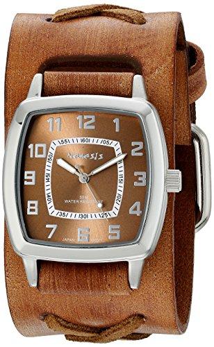 Nemesis 017BFXBB - Reloj de pulsera hombre, Cuero, color Marrón