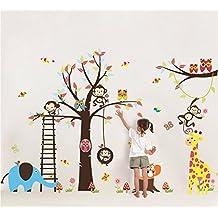 Colorfulworld® XXXL - Adesivo da parete, fantasia