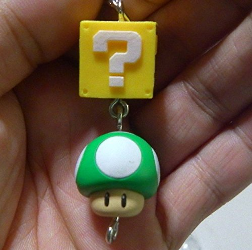 Super Mario 3-D World Enemy Collection~Mascot Figure Swing Keychain~? Block 1-up Mushroom