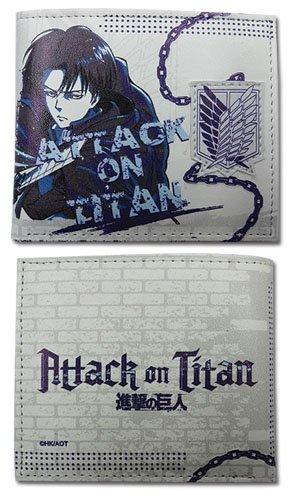 Portafogli dall'Anime Attack on Titan Levi-Bi-Fold, motivo ufficiale ge80220 Toys