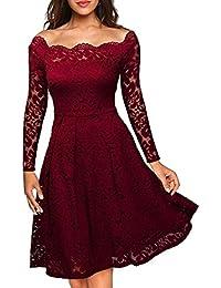 459e3d9f1cff Suchergebnis auf Amazon.de für: Spitzenkleid Langarm - Damen: Bekleidung