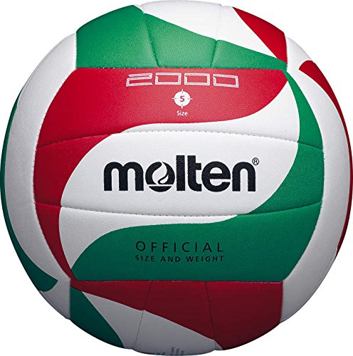 Molten Top Training Volleyball Gr. 5 Ball, Weiß/Grün/Rot, 5 (Volleyball Molten)