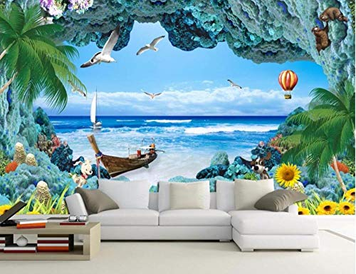 Benutzerdefinierte mural foto 3d wallpaper Coral reef Marine landschaft raumdekoration malerei 3d wandbilder wallpaper für wände 3 d400 * 280 cm