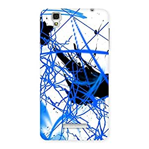 Blue Splasher Print Back Case Cover for Yu Yureka