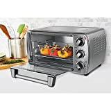oaster 6-Slice Energy Saver Convection Countertop Oven with Versatile Cooking Functions, Silver Finish