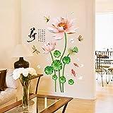 Cczxfcc Chinesische Art Lotus Carp Kunst Wandaufkleber Moderne Studie Wohnzimmer Schlafzimmer Kleiderschrank Tv Hintergrund Abziehbilder Wohnkultur
